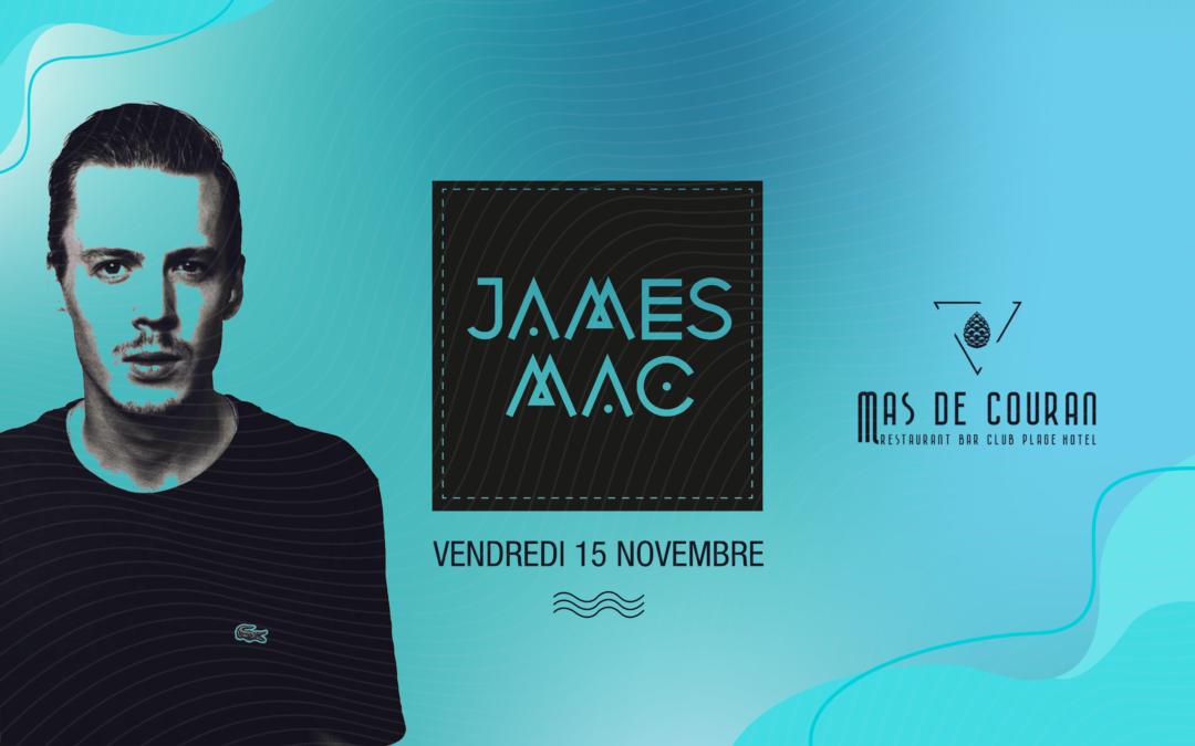 VENDREDI 15 NOVEMBRE → James Mac en live