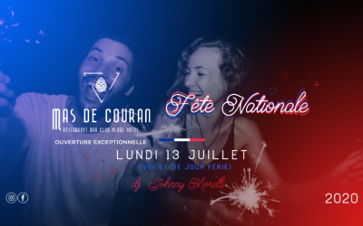 LUNDI 13 JUILLET 2020 > Fête Nationale w/ Johnny Morelli   Veille de jour ferié !